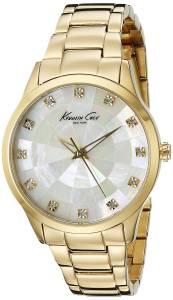 [ケネスコール]Kenneth Cole New York Dress CrystalAccented GoldTone Stainless Steel KC0013
