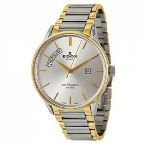[エドックス]Edox  Les Vauberts Day Date Automatic Automatic Watch 83011357JAID 83011-357J-AID