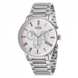 [エドックス]Edox  Les Vauberts Chronograph Quartz Watch 104093AAR 10409-3A-AR メンズ