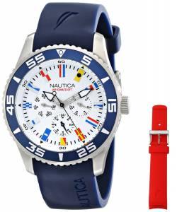 [ノーティカ]Nautica  NST 07 Flag Multi Analog Display Japanese Quartz Blue Watch NAD13502G