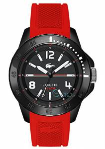 [ラコステ]Lacoste 腕時計 Fiji Black Dial Red Silicone Watch 2010737 メンズ