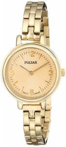 [パルサー]Pulsar  Easy Style Collection GoldTone Stainless Steel Watch PM2086 レディース