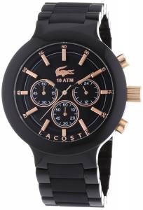 [ラコステ]Lacoste  Chronograph Black Resin Composite Bracelet Watch 2010769 BORNEO メンズ