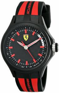 [フェラーリ]Ferrari 腕時計 Pit Crew Analog Display Quartz Black Watch 0840002 メンズ