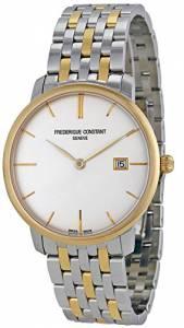 [フレデリックコンスタント]Frederique Constant Slimline Silver Dial Twotone FC-306V4S3B2