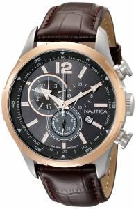[ノーティカ]Nautica  NCS 18 Analog Display Japanese Quartz Brown Watch NAD14513G メンズ