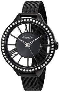 [ケネスコール]Kenneth Cole New York Transparency Black Stainless Steel Watch with 10019679