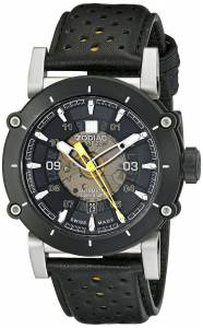 [ゾディアック]Zodiac ZMX2 Stainless Steel Watch with Black and Yellow Genuine Leather ZO8571
