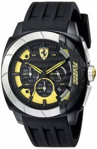 [フェラーリ]Ferrari 腕時計 Aerodinamico Black Watchwith Silicone Strap 830206 メンズ
