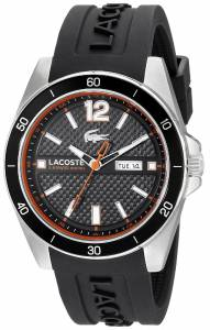 [ラコステ]Lacoste  Seattle Analog Display Japanese Quartz Black Watch 2010799 メンズ