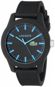 [ラコステ]Lacoste 腕時計 Lacoste.12.12 Black Watch with Silicone Band 2010791 メンズ