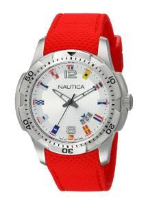 [ノーティカ]Nautica  NCS 16 Flag Analog Display Japanese Quartz Red Watch NAD13513G メンズ
