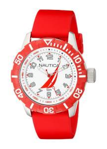 [ノーティカ]Nautica  NSR 100 JClass Analog Display Japanese Quartz Red Watch NAD08506G