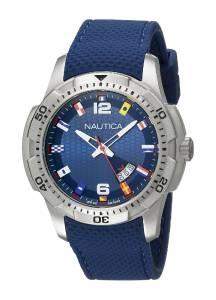 [ノーティカ]Nautica  NCS 16 Flag Analog Display Japanese Quartz Blue Watch NAD13515G メンズ