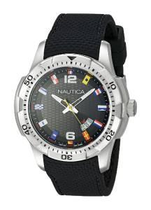 [ノーティカ]Nautica  NCS 16 Flag Analog Display Japanese Quartz Black Watch NAD13517G