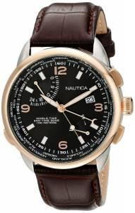 [ノーティカ]Nautica  NWT 01 Analog Display Japanese Quartz Brown Watch NAD20501G メンズ
