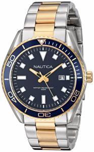 [ノーティカ]Nautica  NAC 103 Date Analog Display Japanese Quartz Silver Watch NAD13510G