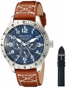 [ノーティカ]Nautica BFD 101 Multi Box Set Analog Display Japanese Quartz Brown Watch NAD15009G