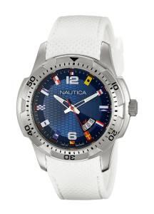 [ノーティカ]Nautica  NCS 16 Flag Analog Display Japanese Quartz White Watch NAD13514G