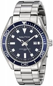 [ノーティカ]Nautica  NAC 103 Date Analog Display Japanese Quartz Silver Watch NAD12518G