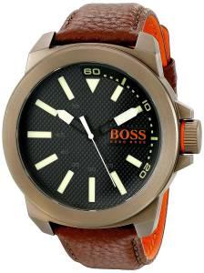 [ヒューゴボス]HUGO BOSS BOSS Orange New York Analog Display Japanese Quartz Brown 1513168