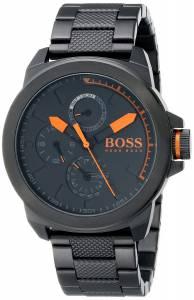 [ヒューゴボス]HUGO BOSS BOSS Orange New York Black Watch with Stainless SteelPlated 1513157