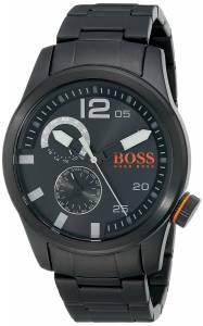 [ヒューゴボス]HUGO BOSS BOSS Orange Paris Analog Display Japanese Quartz Black Watch 1513149