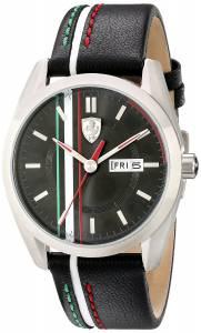 [フェラーリ]Ferrari 腕時計 D 50 Analog Display Japanese Quartz Black Watch 830236 メンズ