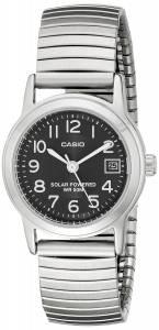 [カシオ]Casio 腕時計 EasyToRead Solar Stainless Steel Watch LTP-S100E-1BVCF レディース