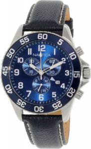 [ノーティカ]Nautica 腕時計 Blue Leather Swiss Multifunction Watch NAD15506G メンズ