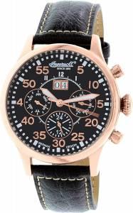 [インガソール]Ingersoll  Monticello Black Leather Automatic Watch IN1824RBK メンズ