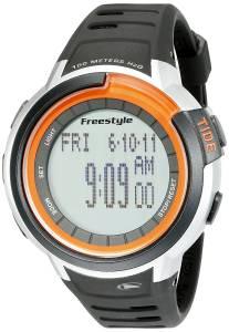 [フリースタイル]Freestyle Mariner Tide Digital Display Japanese Quartz Black Watch 10022919