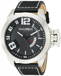 [ハウレックスイタリア]Haurex  Italy Storm Analog Display Quartz Black Watch 6A509UNN