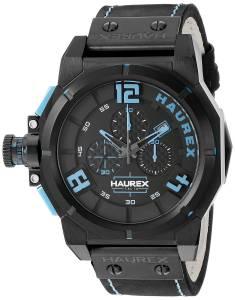 [ハウレックスイタリア]Haurex Italy Space Chrono Analog Display Quartz Black Watch 6N510UBB