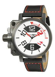 [ハウレックスイタリア]Haurex  Italy Gun Analog Display Quartz Black Watch 6A508URN