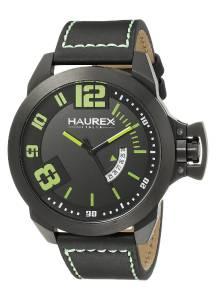 [ハウレックスイタリア]Haurex  Italy Storm Analog Display Quartz Black Watch 6N509UAN