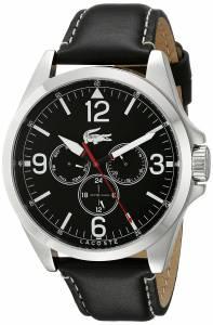 [ラコステ]Lacoste  Montreal Analog Display Japanese Quartz Black Watch 2010804 メンズ