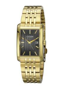 [シチズン]Citizen 腕時計 Rectangular GoldTone Stainless Steel Watch BH1673-50E メンズ