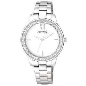[シチズン]Citizen 腕時計 Quartz Crystal White Dial SilverTone Watch. EL3081-58A [逆輸入]