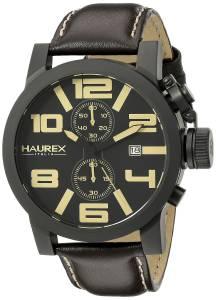 [ハウレックスイタリア]Haurex Italy TURBINA II Analog Display Quartz Brown Watch 3N506UTM