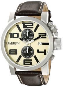 [ハウレックスイタリア]Haurex Italy TURBINA II Analog Display Quartz Brown Watch 3A506UTM