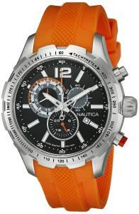[ノーティカ]Nautica 腕時計 NST 30 Analog Display Quartz Orange Watch NAD15510G メンズ