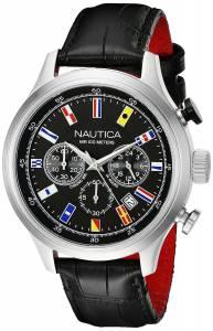 [ノーティカ]Nautica  NCT 16 FLAGS Analog Display Quartz Black Watch NAD16517G メンズ