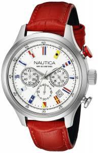 [ノーティカ]Nautica 腕時計 NCT 16 FLAGS Analog Display Quartz Red Watch NAD16519G メンズ