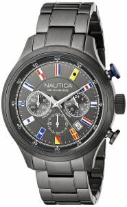 [ノーティカ]Nautica  NCT 16 FLAGS Analog Display Quartz Grey Watch NAD20011G メンズ