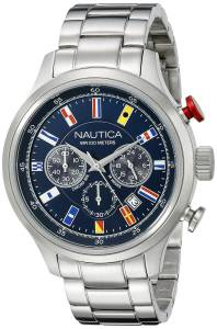 [ノーティカ]Nautica  NCT 16 FLAGS Analog Display Quartz Blue Watch NAD17516G メンズ