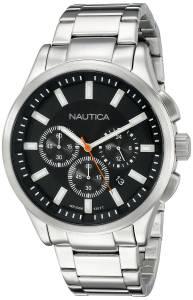 [ノーティカ]Nautica 腕時計 NCT 17 Analog Display Quartz Black Watch NAD19532G メンズ