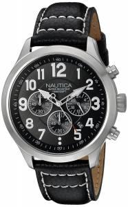 [ノーティカ]Nautica  NCC 01 CHRONO Analog Display Quartz Black Watch NAD14516G メンズ