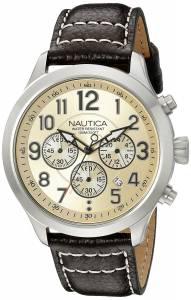 [ノーティカ]Nautica  NCC 01 CHRONO Analog Display Quartz Beige Watch NAD14518G メンズ