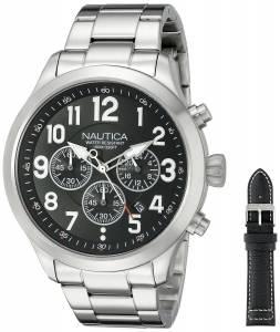 [ノーティカ]Nautica  NCC 01 Chrono Analog Display Quartz Black Watch NAD18508G メンズ